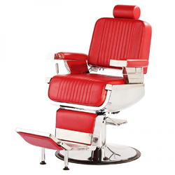 constantine barber chair red