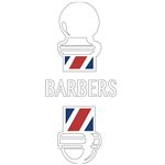 modern barber pole decal