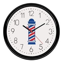 scalpmaster barber pole clock