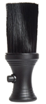 Black Neck Duster with Talc Dispenser in Handle