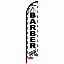 Barber Shop Banner Flag