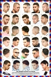 061HSM Barber Poster Men's Hairstyles