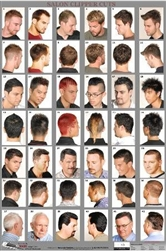 07WM Barber Poster Mens Hairstyles