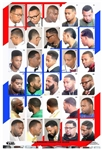 2014BM Laminated Barbershop Poster with 30 Hairstyles for Men