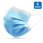 3 ply face mask 6 pack