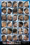 Barber Hairstyle Poster for African-American Men