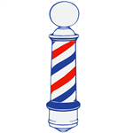 Barber Pole Cling Decal