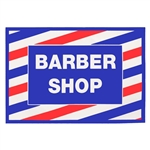 Barber Shop Cling Decal