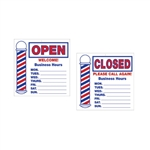 Scalpmaster Open/Closed Sign
