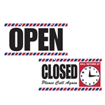 Scalpmaster Open/Closed Sign w/ Clock