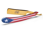MD® Puerto Rico Shave Ready Straight Razor (Gold)