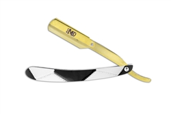 "MD ""Gold Rush Edition"" Soccer Ball-Themed Straight Razor"