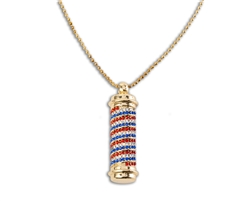 MD® Barber Pole Bling Necklace