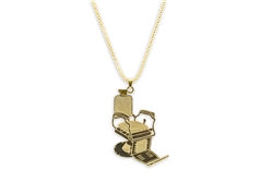 large barber chair necklace gold