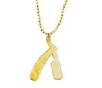gold straight razor necklace smooth