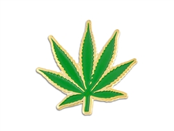 California Maple Leaf Lapel Pin Green