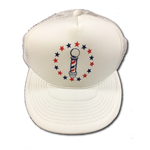 barber pole cap white