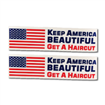 2 pack keep america beautiful bumper sticker