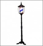 Yanaki Red, White & Blue Striped Barber Pole Street Lantern